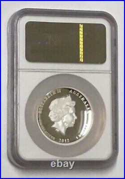 2012 AUSTRALIA $1 LUNAR YEAR OF THE Dragon HIGH RELIEF 1oz SILVER COIN NGC PF 70