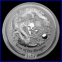 2012 Australia 1 kilo Silver Year of the Dragon BU SKU #62668