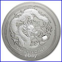 2012 Australia 10 kilo Silver Year of the Dragon BU (Abrasions) SKU#231606
