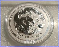 2012 Australia 10 oz Pure Silver Lunar Dragon