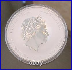 2012 Australia 10 oz Silver Year of the Dragon BU Perth Mint