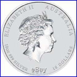 2012 Australia 10 oz Silver Year of the Dragon GEM BU In Capsule Mint Coin SALE