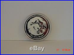 2012 Australia 3-coin Silver Year Of The Dragon Proof Set (0645/1000 Mintage)