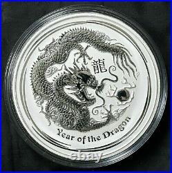 2012 Australia $30 Lunar Dragon 1 Kilo KG 0.999 Silver Coin Perth Mint FREE S/H