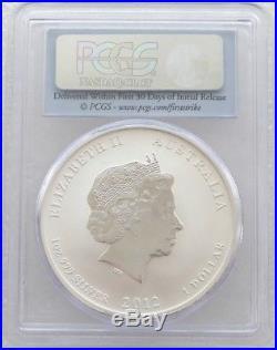 2012 Australia First Strike Lunar Dragon $1 One Dollar Silver 1oz Coin PCGS MS70