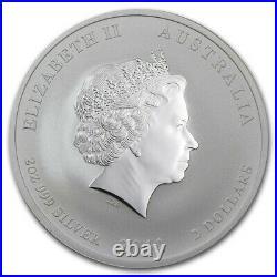 2012 Australia Lunar Dragon 2 oz silver & 2oz colored two coin set