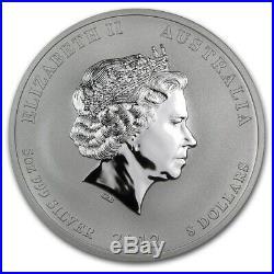 2012 Australia Lunar Series II Year of the Dragon 5 oz Silver Bullion Coin