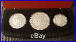 2012 Australia Lunar Series II Year of the Dragon Three Coin Silver Proof Set