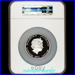 2012 Australia Lunar Year Of Dragon 5oz Silver Proof Coin NGC PF 70 UC! COA & Box