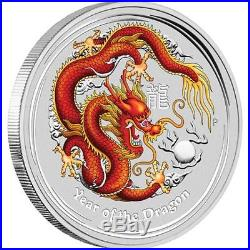 2012 Australia Lunar Year of the Dragon, Ruby Eye, 1kg Silver Spec Coin, #034