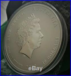 2012 Australia Lunar Year of the Dragon Series II 10 oz. 999 Silver Coin BU