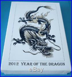 2012 Australia Year of the Dragon 1/2oz, 1oz & 2oz Silver Coloured Coin Set BU