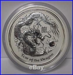 2012 Australia Year of the Dragon Lunar Kilo 1 Kg $30 Silver. 999 Coin JX697