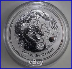 2012 Australian 10oz Silver Year of the Dragon Coin