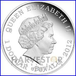 2012 Australian Dragons Of Legend European Green Dragon Silver Coin 1 Oz