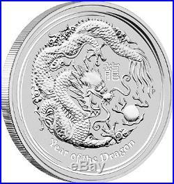 2012 Australian Lunar Dragon 5 oz Silver Coin Series II
