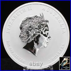 2012 Australian Lunar Year Of The Dragon 2 oz. 999 Silver Coin