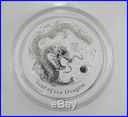 2012 Australian One Kilogram Silver Lunar Year of the Dragon Coin