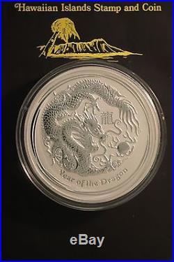 2012 Australian lunar Chinese Zodiac. 999 Silver Coin Year of the Dragon 1 kilo