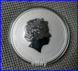 2012 Dragon Set Lunar Series Silver coins. 999 Rare Dragon 1oz, 2oz, 5oz & 10 oz