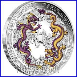 2012 Dragons Of Legend Special Edition 5 Oz. Chinese Dragon Coin Ogp Coa