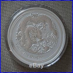 2012 Lunar Year of the Dragon 1 Kilo Silver Coin