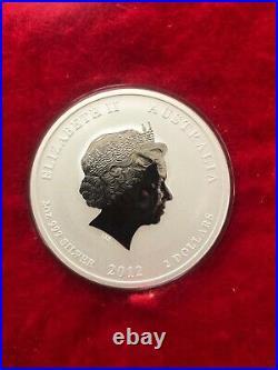 2012 Lunar Year of the Dragon 2oz. 999 Silver Bullion Coin