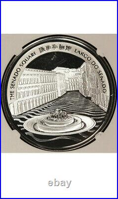 2012 Macao Macau 20 Patacas Year of the Dragon Proof Silver Coin NGC PF 70 UCAM