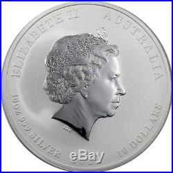 2012 P $10 AUD 10 oz. 999 Fine Silver Australian Perth Mint Lunar Dragon BU