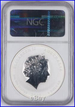 2012-P Australia Brisbane Anda Coin Show 1oz Silver Year of the Dragon NGC MS70