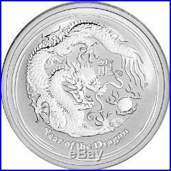 2012 P Australia Silver Lunar Year of the Dragon (1/2 oz) 50C 1 Roll 20 BU Coins