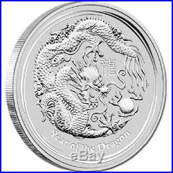 2012 PE Silver Lunar Series II Year of the Dragon 1 oz Coin Tube of 20