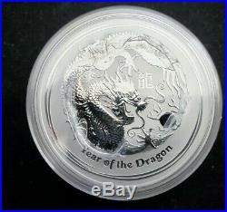 2012 Perth Mint Series 2.999 2 oz Silver Year of the Dragon coins in OGP Roll