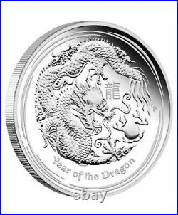 2012 SILVER 1 OZ YEAR of the DRAGON PERTH MINT WRAP ROLL OF 20