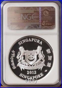 2012 Singapore Silver $10 Color Dragon Coin NGC PF70