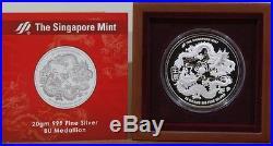 2012 Singapore Silver Double Dragon Coin