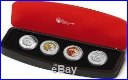 2012 Typeset Lunar Silver Dragon Coin Series II Year Of The Dragon Coa# 400