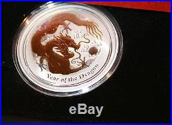 2012 Year Of The Dragon 4 Coin SILVER COIN SET! Series II Type Set