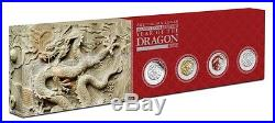 2012 Year of the Dragon 1 oz Silver Typeset Collection (4 Coins) 1500 Limit