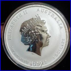 2012 Year of the Dragon 2oz Silver Coin Australia Perth Mint's Lunar Series II