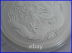 2012 Year of the Dragon Lunar 10 oz Silver Coin Series II Australia Perth Mint
