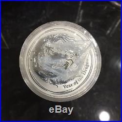 2012 Year of the Dragon Sealed Roll 1 oz Silver Coin Australia Lunar Perth 20 BU