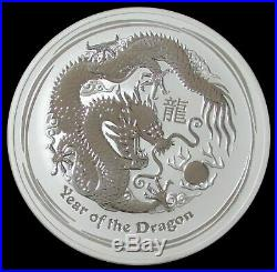 2012-p Silver Australia 10 Oz Lunar Year Of The Dragon $10 Coin In Capsule