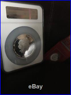 2012P Australian Lunar 5 Oz Silver Year Of The Dragon NGC PF70 COA #1203/5000