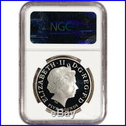 2013 Great Britain Silver St George The Dragon Pistrucci Proof £5 NGC PF70 UCAM
