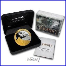 2013 The Hobbit Dragon, Lotr 1 Oz Silver Proof Coin! Rare