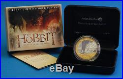 2014 THE HOBBIT DRAGON Bilbo Baggins 1 OZ SILVER PROOF COIN! RARE