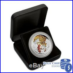 2015 $5 The Koi Jumps The Dragon Gate 5oz Silver Proof Coloured Coin