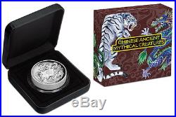 2015 Australia Tuvalu Mythical Creatures 5oz Dragon Phoenix Silver Coin