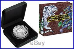 2015 Australia Tuvalu Mythical Creatures 5oz Dragon Silver Coin PCGS PR70 F. S